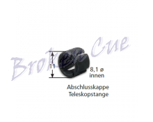 Abschlusskappe Teleskopstange mit Maßen