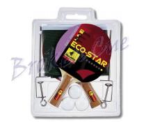 TT - Schläger Set Eco-Star inkl. Bälle u. Netzgarnitur