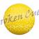 Kickerball PE hart in gelb, Ø 34 mm, glatt-schnell